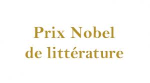 Prix Nobel de littérature